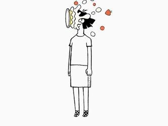 顔面ケーキ 女子 【 Tシャツ 】の画像