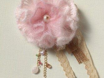 わたがしコサージュ 薄桜の画像