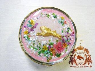 花畑ピルケース(ウサギ)の画像