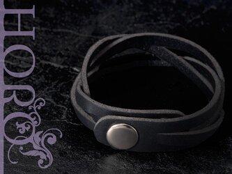 clarity,S-革ブレスレット-黒の画像
