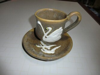 白鳥 カップ&ソーサの画像