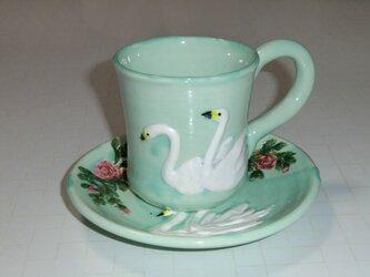 白鳥・カップ&ソーサの画像