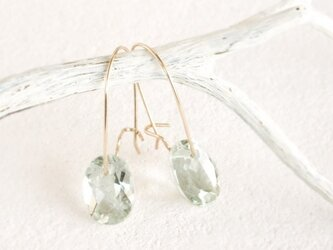 14KGF Brilliant Greenamethyst Earringsの画像