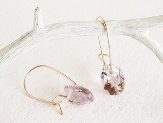 14KGF Brilliant Amethyst Earringsの画像