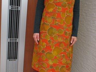 オレンジ色のかわいいワンピース 一点品 の画像