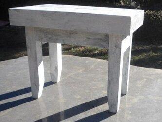 クラック塗装アンティーク風 ミニミニローテーブルの画像