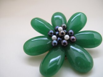 Flower Brooch ~Queen Green~の画像