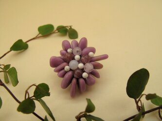 Flower Brooch ~Mini Purple~の画像