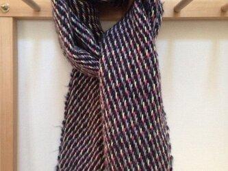 手織り マフラーの画像