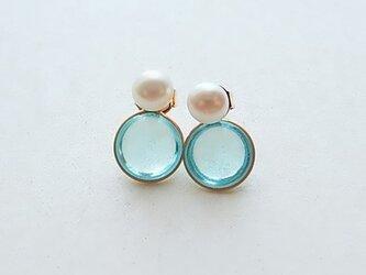 2way pearl + glass - aqua blueの画像