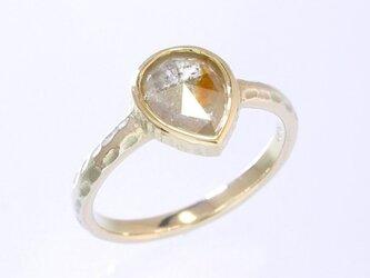 0.91ct オーガニック ダイヤモンド K10YG ソリテール リング『あんず』の画像