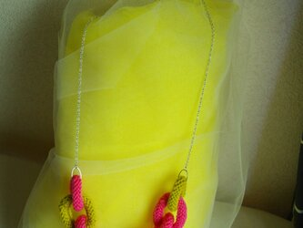 knit chain necklaceの画像