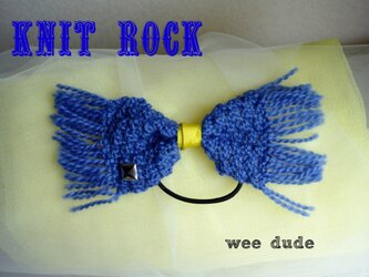 knit rock ( blue )の画像