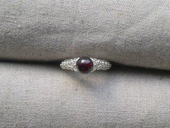 Calyx Ring(ガーネット/ シルバー)の画像