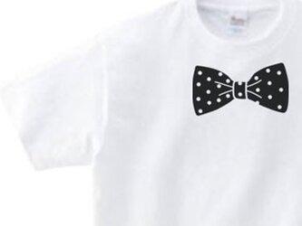 蝶ネクタイ(リボン)100~160 Tシャツ 【受注生産品】の画像