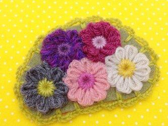 お花のブローチ Bの画像