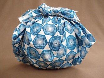 風呂敷 ヘキサゴン ブルーの画像