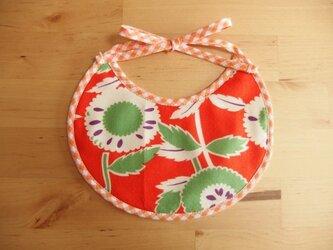 まあるいお花のプチスタイ/オレンジの画像