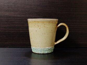 彩夢文様 マグカップ 白×ブルーの画像