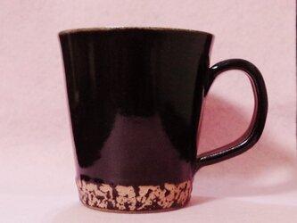 彩夢文様 マグカップ 黒×ピンクの画像