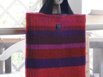 ウール ラーヌ織り手さげの画像