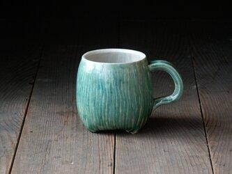 マグカップ(青緑釉 マグ380ml)の画像