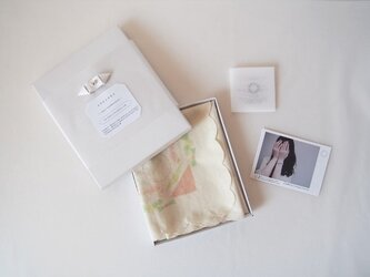 japan handkerchief ~ beige ~の画像