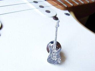 ギターのピンブローチ(ストラトタイプ)の画像