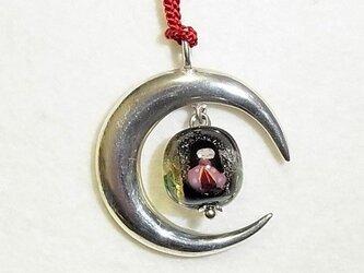 三日月型銀製帯飾り(かぐや姫)の画像