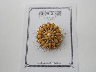 ビーズ刺繍のボタン no.1505の画像