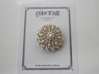 ビーズ刺繍のボタン no.1506の画像