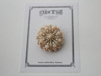 ビーズ刺繍のボタン no.1507の画像