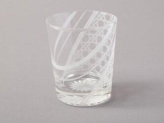 羽衣- 東京切子(花切子)ロックグラス 八角籠目の画像
