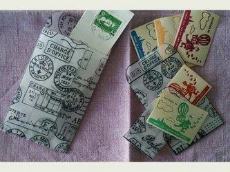 レーシング封筒12枚&世界の切手(主にヨーロッパ)5枚setの画像