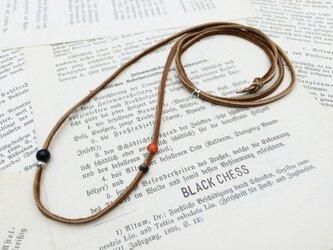 カレンシルバーとオニキスのネックレス N14の画像