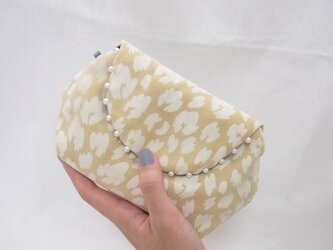 LEOPARD CLUTCH POUCH / yellow【 受注生産 】の画像