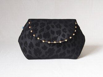 LEOPARD CLUTCH POUCH / black【 受注生産 】の画像