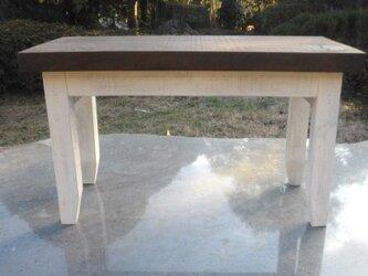 マツ板 ローテーブルアンティーク風の画像