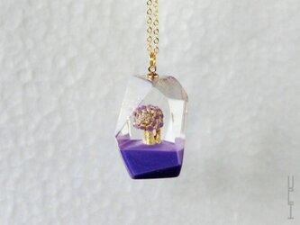 木のアイスペンダント (紫 type2)の画像