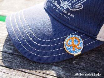 【再販×5】ゴルフマーカー(イニシャル・ブルー&オレンジ)の画像