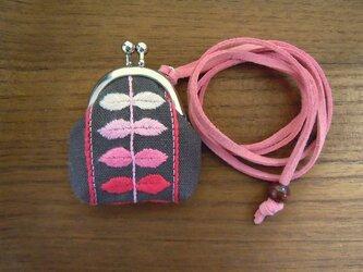 豆ガマペンダント・アイビー1(ピンク)の画像