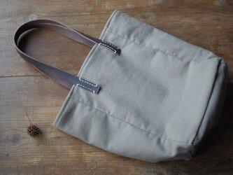 ■nori. cotton+leather tote トートの画像