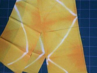 黄色 正絹はぎれ布②260㎝×19㎝の画像