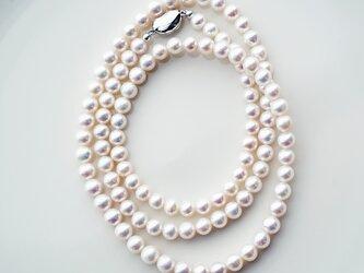良質淡水真珠の80cmロングネックレス ~Suzanne_80の画像