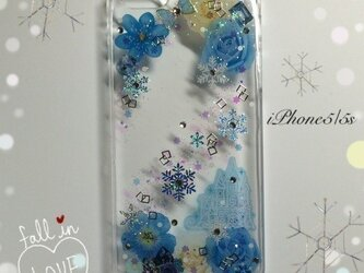 iPhone5/5s用ケース アナ雪風の画像