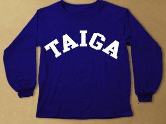 (size80~100)名前入り長袖Tシャツ【BIGLOGO紺】の画像