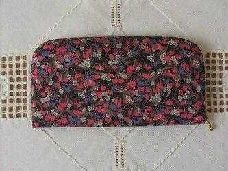 再販:長財布(リバティ社タナローン使用)チェリーライプの画像