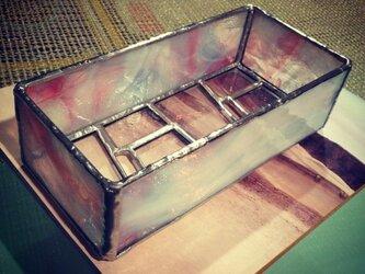ステンドグラス 植木鉢の画像