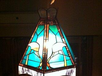 ステンドグラス 照明 flamingoの画像