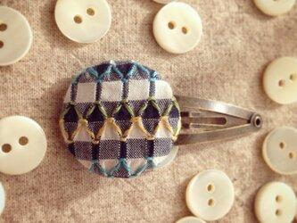 スモッキング刺繍くるみボタンのヘアピン SP-4の画像